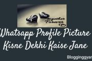 Whatsapp Profile Picture Kisne Dekhi Kaise Jane