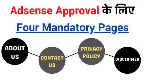 Adsense Approval के लिए Four Mandatory Pages