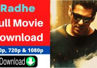 Radhe Full Movie Download PagalMovies 720p and 1080p