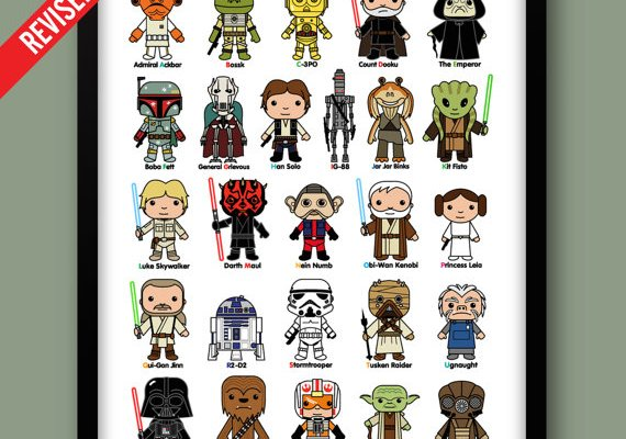 Star Wars inspired Mini Heroes print; an awesome way to learn your ABC's!
