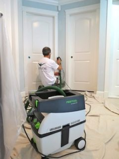 painters using festool dust extraction