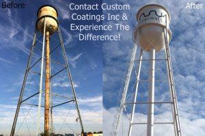 Elevated Water Tower Painting - Custom Coatings Inc