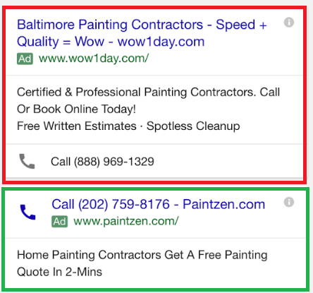 call only ads on google