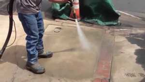 Normally Driveways Can Become Stained With Grease And Oil Over Time One Way Of Effectively Cleansing Your Driveway Is Thru Wet Blasting