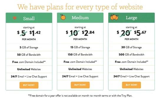 a small orange shared hosting