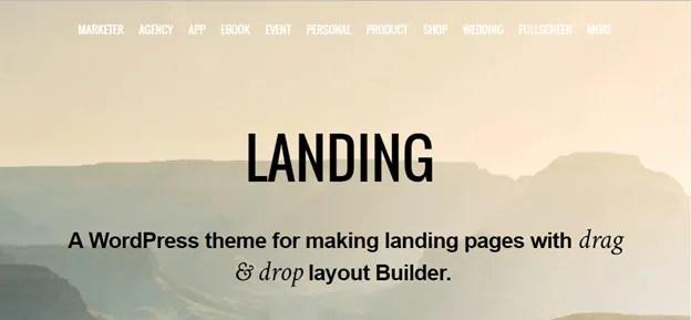 themify landing theme