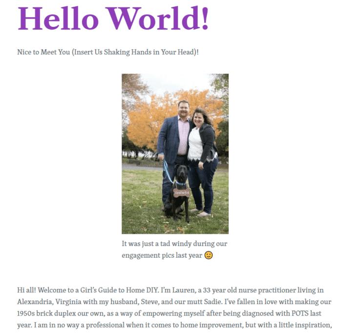 first blog posts