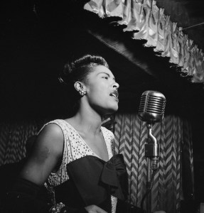 Billie Holiday Downbeat New York N.Y. ca. Feb. 1947 William P. Gottlieb 04251 - Song of the Day: Crazy She Calls Me