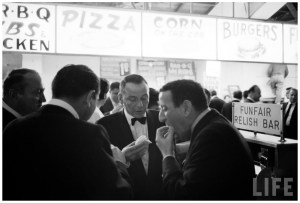 photo john dominis 1964 entertainer frank sinatra c and tony bennett l stopping for a late night hot dog 1964 b - Song of the Day: East of the Sun (West of the Moon)