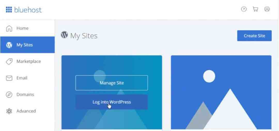 Create Site_Bluehost_WordPress
