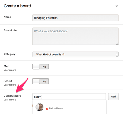 Create Group Board