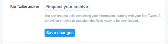 Your Twitter Archive