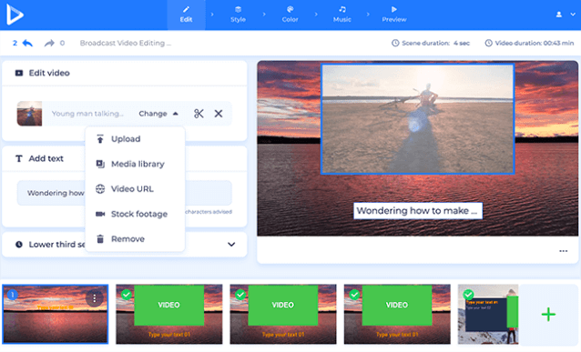 Renderforest to create visual and video assets