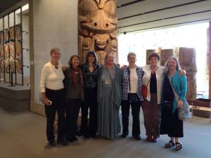 Woolfians at the reception held at the Bill Reid Gallery in Vancouver