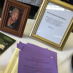 Jane Marcus memorial at the 25th Annual International Conference on Virginia Woolf: Virginia Woolf and Her Female Contemporaries