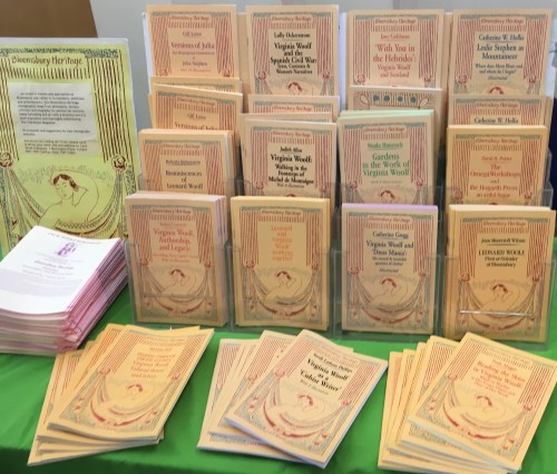 Speaking of books, Cecil and Jean publish several new volumes in the Bloomsbury Heritage Series each year, introducing them at the annual Woolf conference.