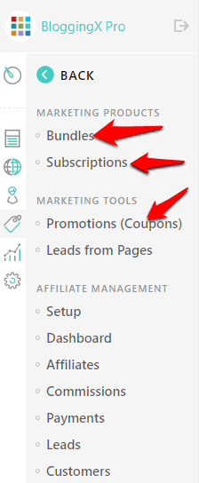 Bundles and subscriptions