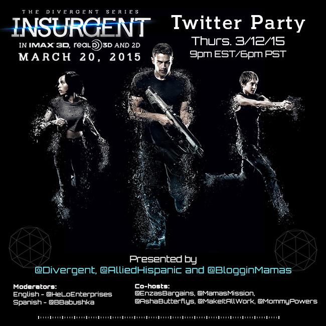 #Insurgent Twitter Party 3-12-15 at 9pm EST