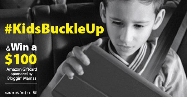 #KidsBuckleUp $100 Amazon Giftcard Giveaway