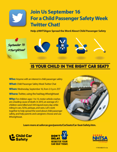 child passenger safety twitter party flyer