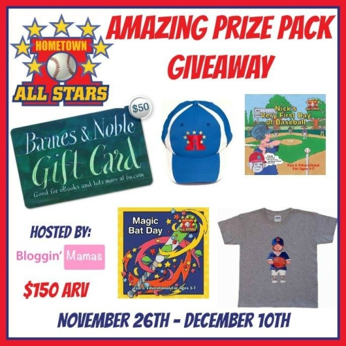 The Hometown All Stars Giveaway- Ends 12-10-15. US 18+. Win a Barnes & Noble Giftcard, books and more!