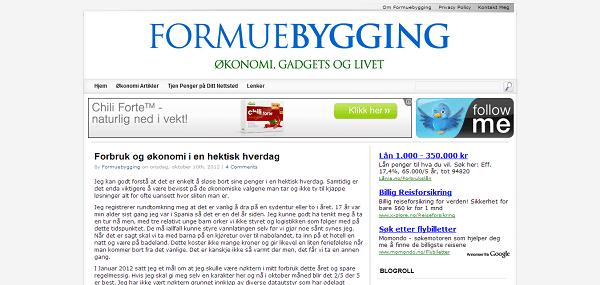 Formuebygging