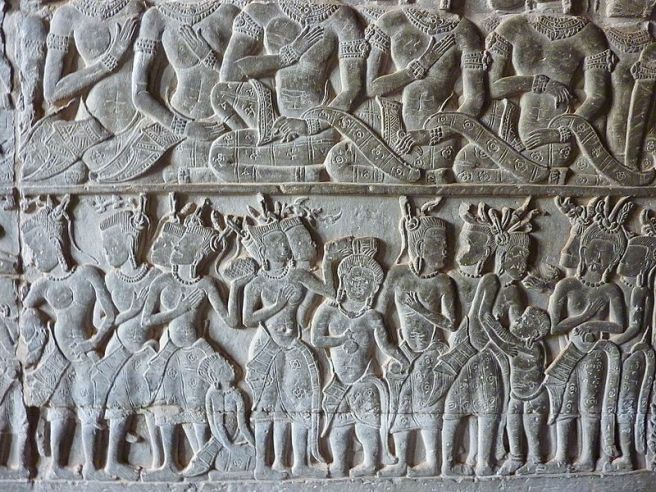 Frieze at Angkor Wat Photograph from Angkor Wat in Cambodia taken by Anandajoti.