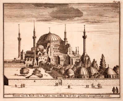 Haghia Sofia from Adriaan Reland (1676-1718): Verhandeling van de godsdienst der Mahometaanen, 1719