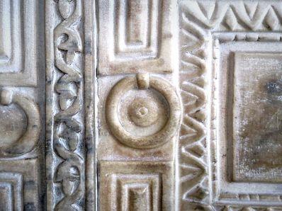 Detail of relief on the Marble Door.