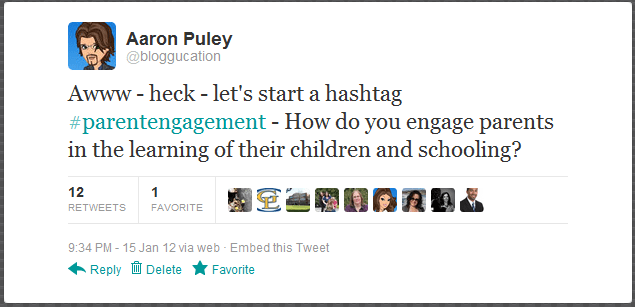 The Story of #parentengagement via Twitter and Storify