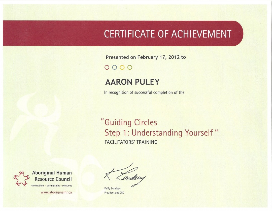 Guiding Circles Part I: Understanding Yourself Certificate