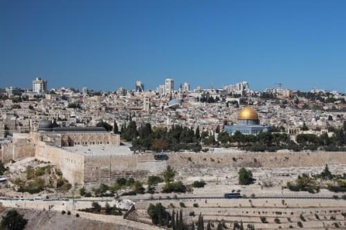 Vista aérea de la ciudad de Jerusalén. Fotografía gentileza de la Oficina de Turismo de Israel