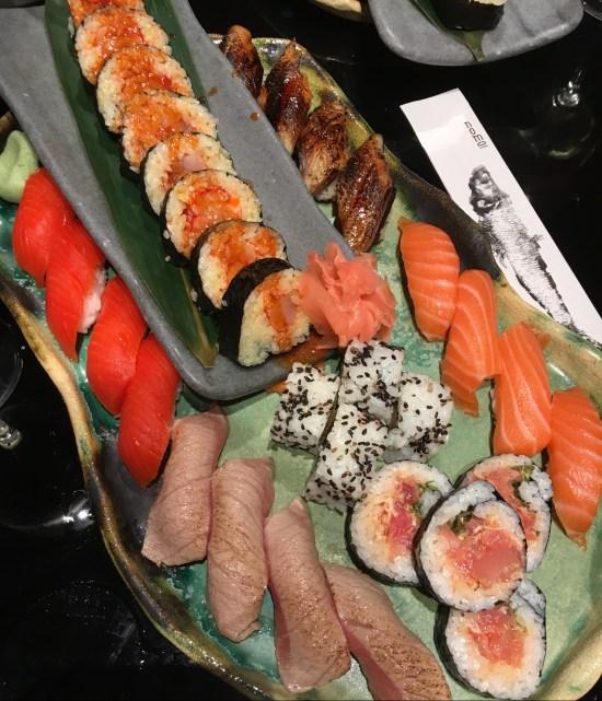 Bandeja especial de sushi