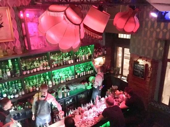 Interior Collage Art & Cocktail Social Club