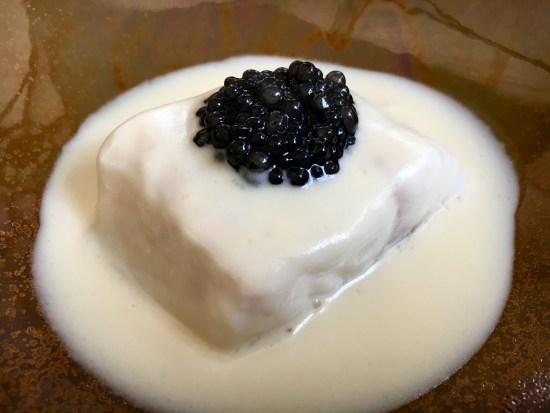 Lubina y caviar D'0