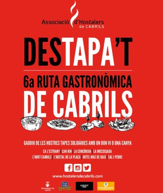 Cartel de la 6a. Ruta Gastronòmica de Cabrils