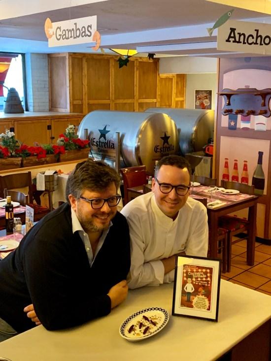 Juan Carlos Iglesias junto a Paco Morales