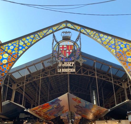 Entrada principal del Mercat de Sant Josep o de La Boqueria