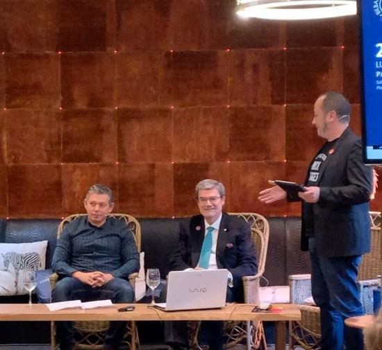 Alvaro Garrido, Juan Mari Aburto e Igor Cubillo