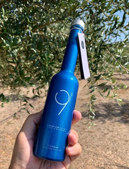 botella de aceite de oliva virgen extra
