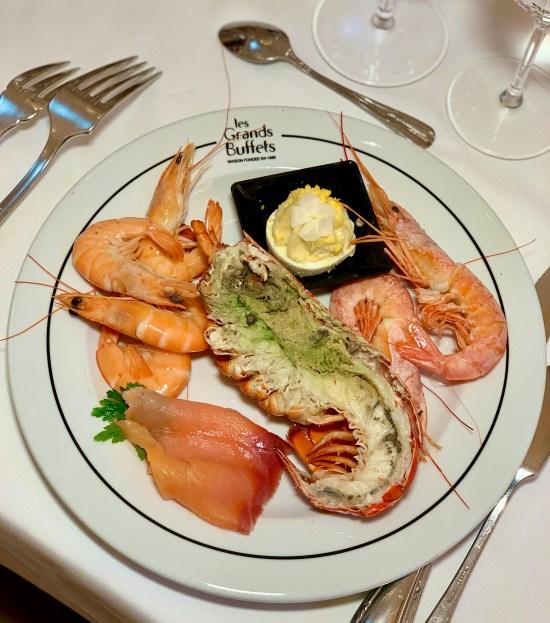 selección de pescado y marisco de Les Grands Buffets