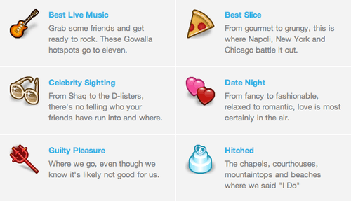 Gowalla Highlights Screenshot