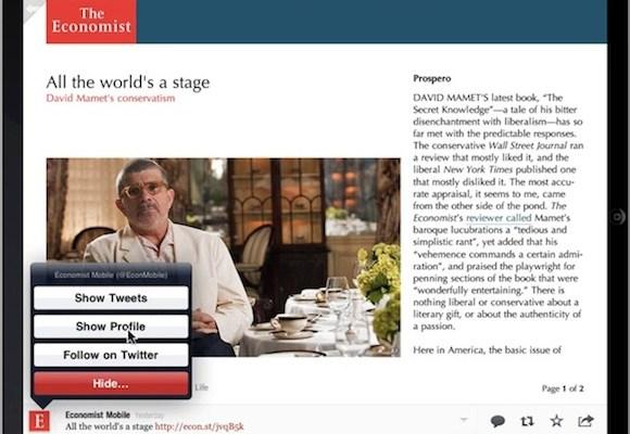 Flipboard Economist Integration