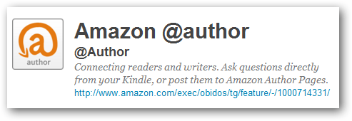 Amazon At Author For Twitter