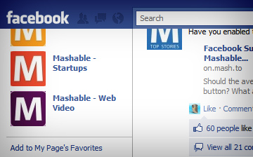Facebook Navigation Bar