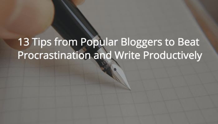 tips from popular bloggers
