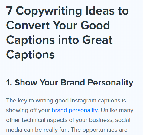 Copywriting - Ideas