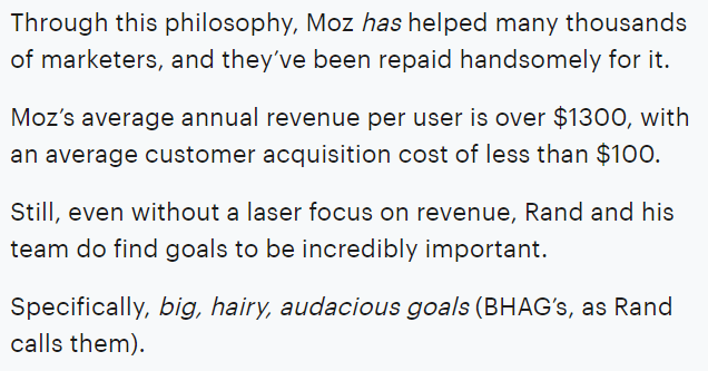 Moz - Annual Revenue