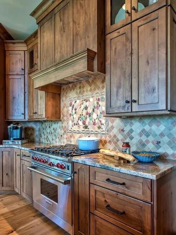 Country Style Kitchen Backsplash