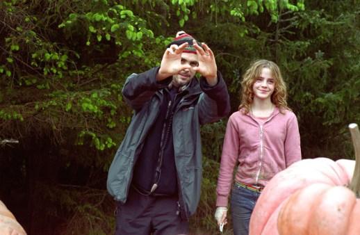Alfonso Cuaron y Emma Watson